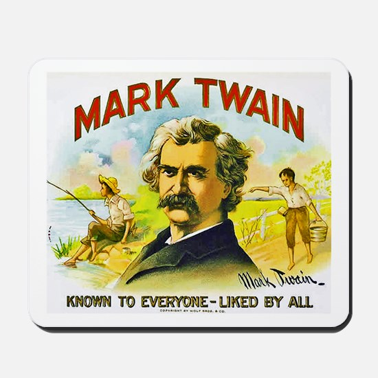 Mark Twain Cigar Label Mousepad