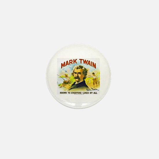 Mark Twain Cigar Label Mini Button