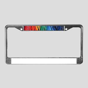 Night Colour License Plate Frame