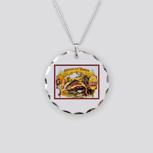 Speckled Trout Cigar Label Necklace Circle Charm