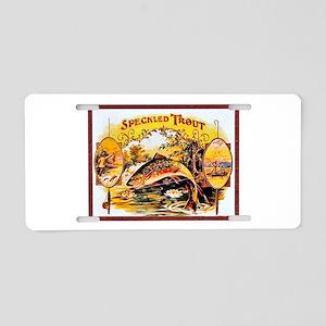 Speckled Trout Cigar Label Aluminum License Plate