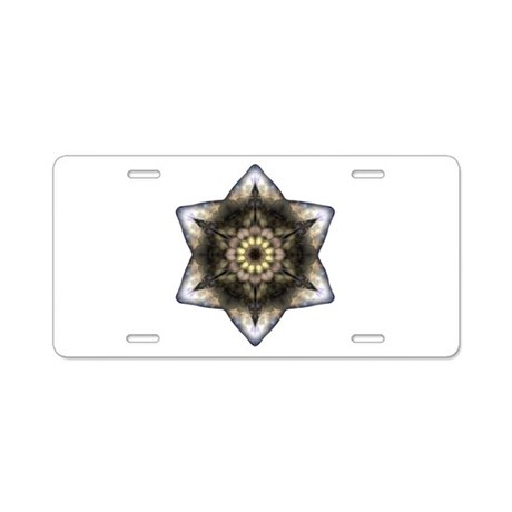 Floral Star of David Aluminum License Plate