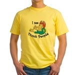 Dumb t-shirts Yellow T-Shirt
