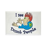 Dumb t-shirts Rectangle Magnet (10 pack)