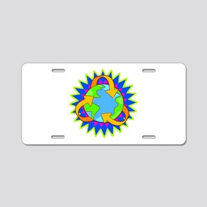 Earth Day Energy Aluminum License Plate