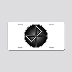 BK52 SILVER Aluminum License Plate