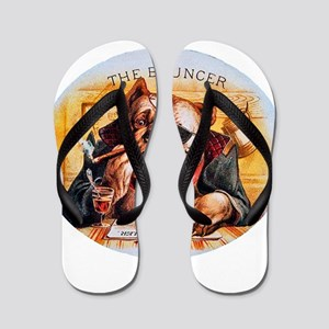 Bouncer Dog Cigar Label Flip Flops