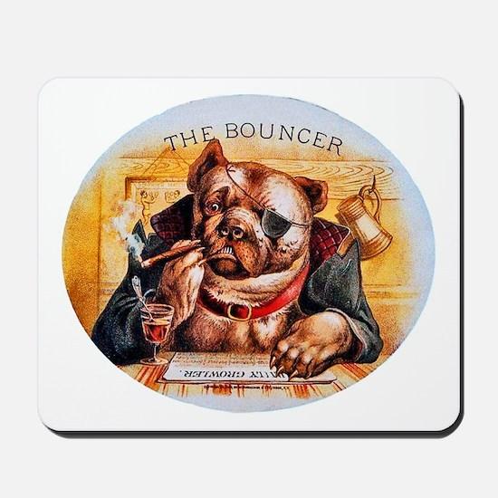 Bouncer Dog Cigar Label Mousepad