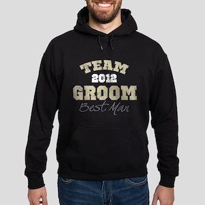 Team Groom 2012 Best Man Hoodie (dark)
