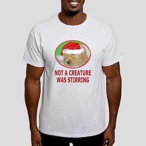 Not A Creature Was Stirring Light T-Shirt