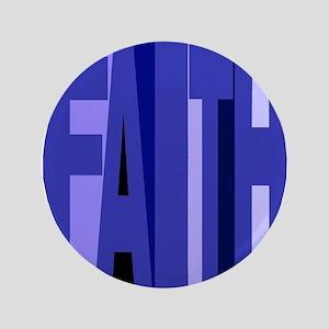 """Faith (blue) 3.5"""" Button"""