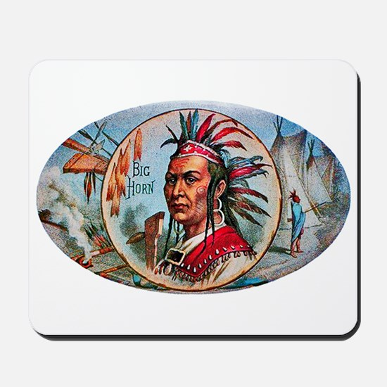 Indian Chief Cigar Label Mousepad