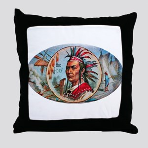 Indian Chief Cigar Label Throw Pillow