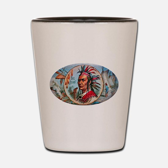 Indian Chief Cigar Label Shot Glass