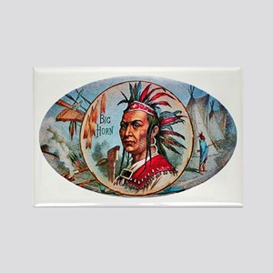 Indian Chief Cigar Label Rectangle Magnet