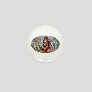 Indian Chief Cigar Label Mini Button