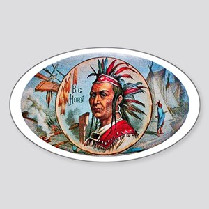 Indian Chief Cigar Label Sticker (Oval)