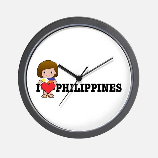 I love Philippines Wall Clock