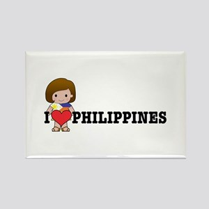 I love Philippines Rectangle Magnet