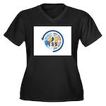 ARISS Women's Plus Size V-Neck Dark T-Shirt