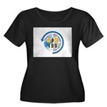 ARISS Women's Plus Size Scoop Neck Dark T-Shirt