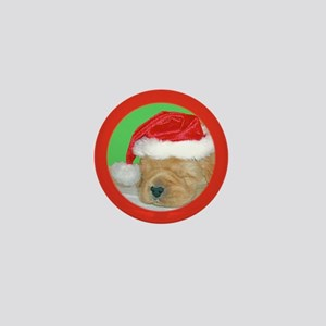Christmas Puppy Mini Button
