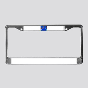 cosmo blue License Plate Frame
