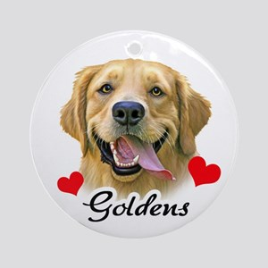 Love Goldens Ornament (Round)