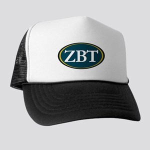 Zeta Beta Tau Fraternity Letters in Wh Trucker Hat