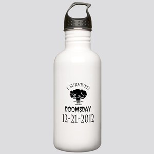 I Survived Doomsday 2012 Blac Stainless Water Bott