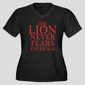 Dexter: Lion Women's Plus Size V-Neck Dark T-Shirt