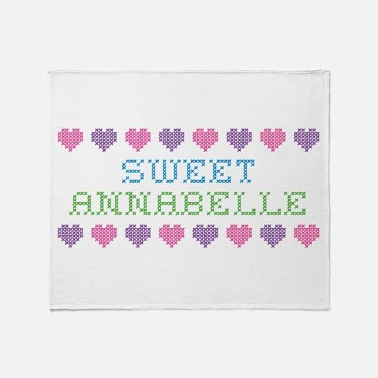Sweet ANNABELLE Throw Blanket