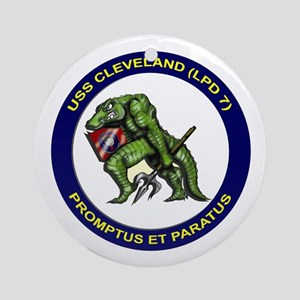 USS Cleveland LPD 7 Ornament (Round)
