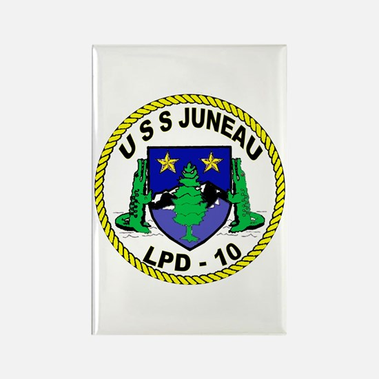 USS Juneau LPD 10 Rectangle Magnet