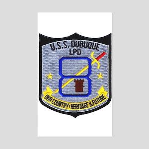 USS Dubuque LPD 8 Rectangle Sticker