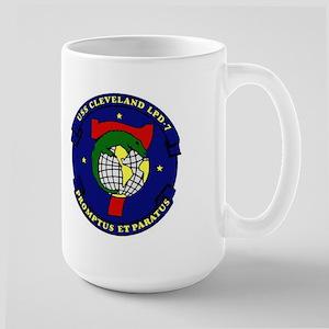 USS Cleveland LPD 7 Large Mug