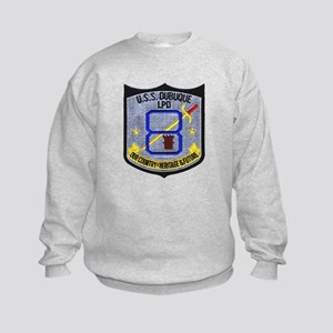 USS Dubuque LPD 8 Kids Sweatshirt