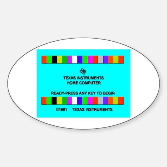 Ti-99/4a Title Screen Sticker (Oval)