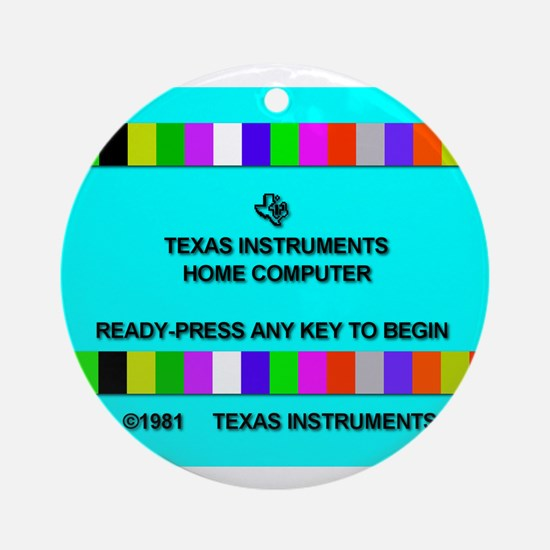 Ti-99/4a Title Screen Ornament (Round)