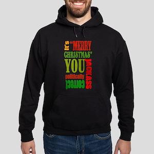 Its Merry Christmas Hoodie (dark)