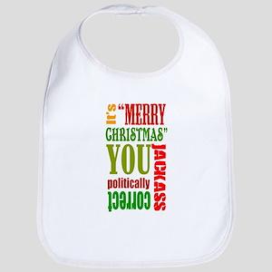 Its Merry Christmas Bib