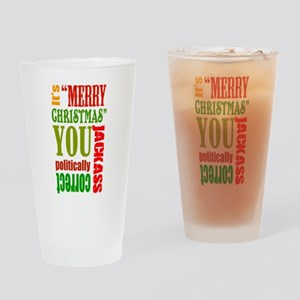Its Merry Christmas Drinking Glass