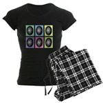 Pop Art Pysanka Women's Dark Pajamas