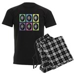 Pop Art Pysanka Men's Dark Pajamas