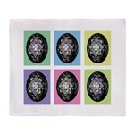 Pop Art Pysanka Throw Blanket
