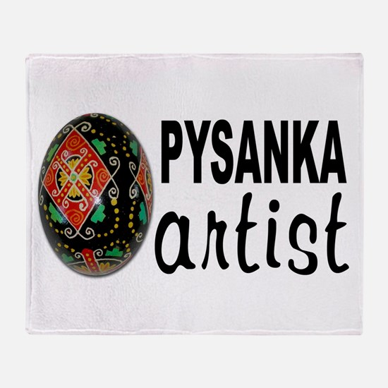 Pysanka Artist Throw Blanket