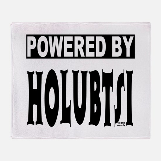Powered by Holubtsi Throw Blanket