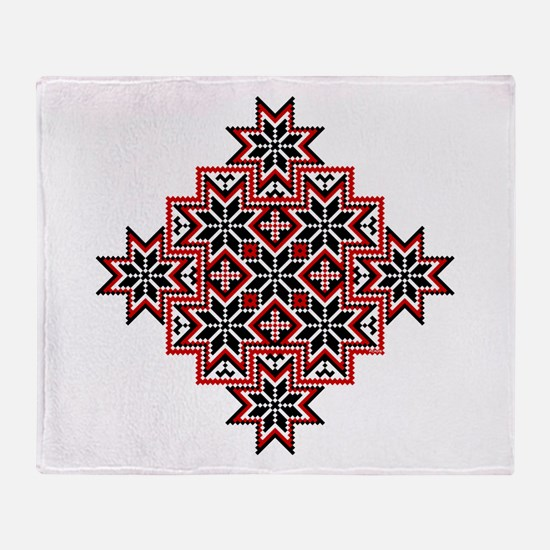 Folk Design 8 Throw Blanket
