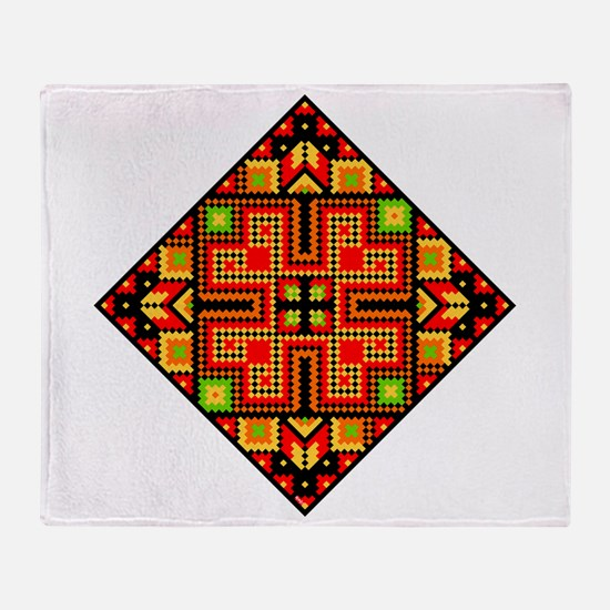 Folk Design 4 Throw Blanket