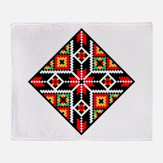 Folk Design 2 Throw Blanket